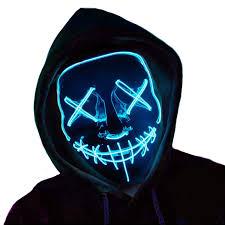 Led Light Up Mask Amazon Led Light Up Mask Halloween Scary Mask Costume Cosplay Mask For Festival Music Party Club Christmas