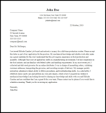 Work Cover Letters Professional Production Worker Cover Letter Sample Writing Guide
