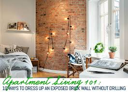 Cheap Home Decor Ideas For Apartments Gorgeous 48 Ways To Decorate An Exposed Brick Wall Without Drilling 48sqft
