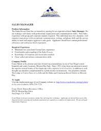 Motel Management Resume Sales Management Lewesmr