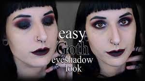 easy goth smokey eye makeup tutorial