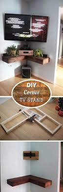 diy wall mounted corner tv stand