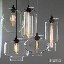industrial round chandelier unique round pendant chandelier clear glass globe industrial