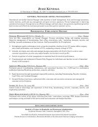Resume For Hospitality Stunning 48 Resume For Hotel Management Zasvobodu
