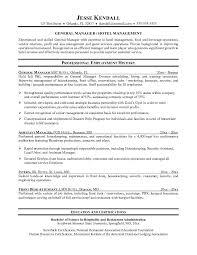 Resume For Hospitality Stunning 48 Resume For Hotel Management Zasvobodu