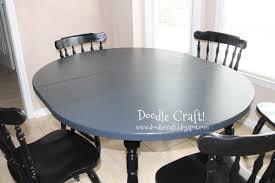 Painted Round Kitchen Table Doodlecraft Stencil A Round Kitchen Table Tutorial