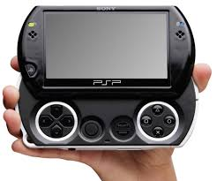 sony psp. the psp go is a new handheld that lightens load of older models by making games available via wireless download or on memory stick micro cards. sony psp