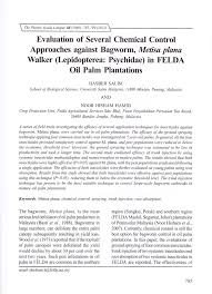 Pdf Evaluation Of Several Chemical Control Approaches Against