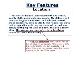 the thesis statement a road map for your essay what is a thesis  key features location english readers like to know what an essay will be about near the