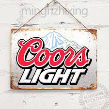 Coors Light Prices Uk Us 4 99 50 Off Coors Light Beer Drink Vintage Tin Sign Metal Decor Metal Sign Wall Sign Wall Decor Door Plaque Art Collection Home Decor On