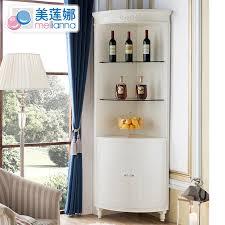 get ations us lena contadino white modern european solid wood corner cabinet corner cabinet wine glass wine cabinet