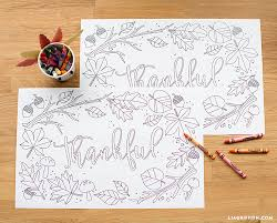I remember having these thanksgiving placemats you color in school, and when i taught i gave them to my students too. Kids Thanksgiving Coloring Placemats Lia Griffith