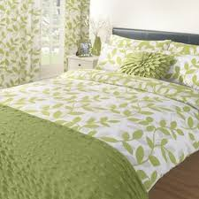 poly cotton duvet cover bed quilt bedding set green flannel