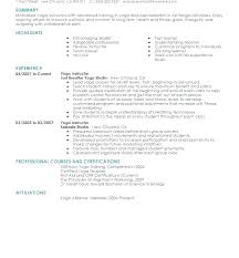Modern Resume For Instructors Fitness Instructor Contract Template