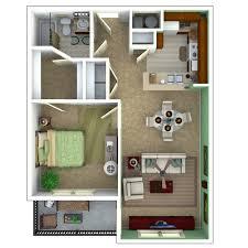 1 bedroom apartment floor plan escape