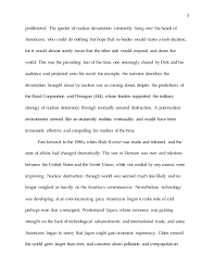 blade runner essay draft   nuclear weapons 3