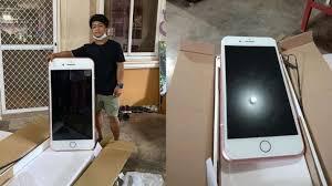 teen boy orders iphone receives