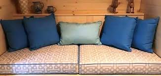 custom sunbrella cushions custom cushion pillow combo bring luxury to campsite custom outdoor seat cushions sunbrella