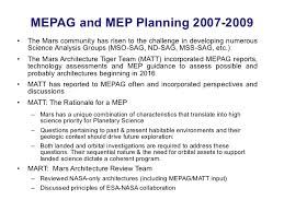 mars current state of knowledge and future plans and strategies  23 mepag and mep planning