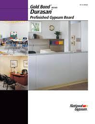 Durasan Prefinished Gypsum Board National Gypsum Pdf