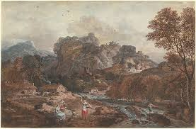 mountain landscape with washerwomen and a fisherman c 1765 8 national gallery