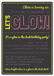 21st birthday invitations beautiful glow in the dark theme birthday party invitation custom printable of 21st