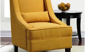 image of mustard yellow accent chair