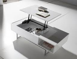 porto lujo modern coffee table lift up top in choice of colour