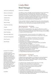Cv Template Retail Resume Examples