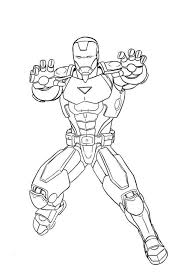 Marvel Iron Man Coloring Pages Ausmalbilder Superhero Coloring