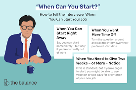 Careers Interview Questions Interview Questions About When You Can Start Work
