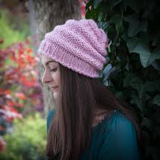 Loom Hat Patterns Awesome Loom Knit Hat Pattern Slouch Hat Beanie Textured Bulky Chunky