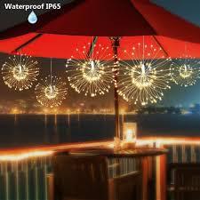 diy foldable bouquet shape fairy lights firework battery operated led string lights decorative garland wedding lights