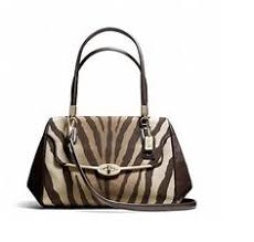 Coach Madison Zebra Print Small Madeline East West Satchel Msrp Brown and  Tan Canvas Leather Shoulder Bag off retail