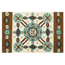 c f enterprises inc kasbah multicolor rectangular 2 ft x 3 ft rug