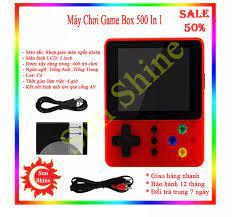 Máy chơi game cầm tay game box 500 in 1 - Máy chơi game tích hợp sẵn 500 game  Mario, Contra, Tank v.v..., pin rời thay được