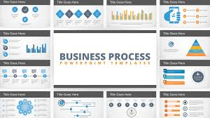 Free Flat Business Process Diagram Powerpoint Template