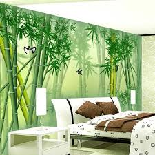 custom 3d mural wallpaper modern chinese green bamboo wall painting art mural living room bedroom background