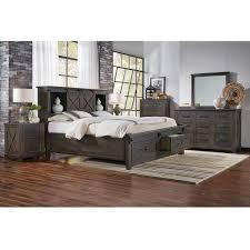Bellingham Sun Valley 4 Piece King Bedroom Set in Charcoal ...