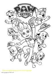 Paw Patrol Coloring Pages Paw Patrol Skye Coloring Page Free