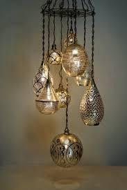 9 piece chandelier silver iron handmade