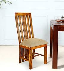high back sheesham wood dining chair set of 2 in golden oak finish by wooden emporium high back sh vriwci