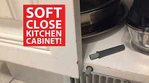 Soft Close Kitchen Cabinets Soft Close Kitchen Cabinet Doors Diy Retrofit Youtube