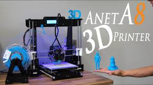 Best Cheap DIY 3D Printer Kit <b>Anet A8</b> - RCLifeOn - YouTube