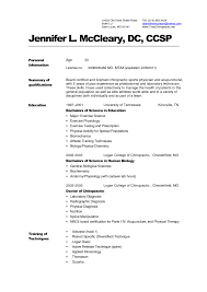 Medical Resume Format Printable Template Word Sample Cv Templates