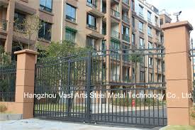 metal fence gate. China High-Quality Exterior Security Decorative Wrought Iron Fence Gate - Door, Doors Metal