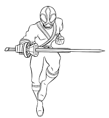 Power Rangers Samurai Coloring Pages For Boys To Print For Free