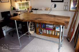 37 diy standing desks built with pipe and kee klamp simplified regarding modern residence build a standing desk designs