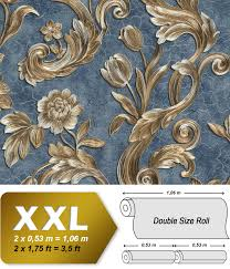 Bloemen Behang Edem 9013 37 Vliesbehang Hardvinyl Warmdruk In Reliëf