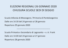 IC CODIGORO » Elezioni Regionali 26 gennaio 2020
